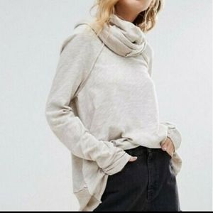 Free People Beach Cocoon Pullover Beige